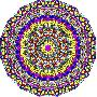 Kathy G. Ahrens Hearts Mandala Glowing