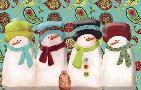 Leslie Wing Paisley Snowmen