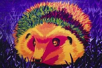 Lucy Loo Wales Colorful Hedgehog