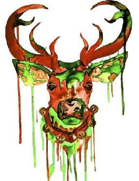 Lucy Loo Wales Reindeer Canvas