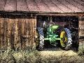 Randy Waln Deere In The Barn