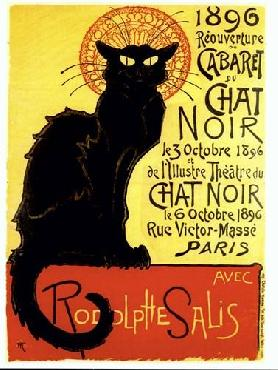 Theophile Alexandre Steinlen Chat Noir Canvas