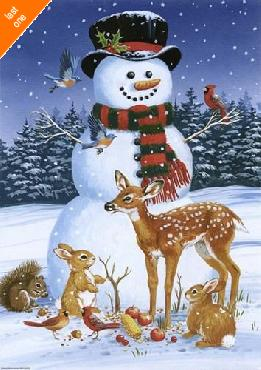William Vanderdasson Snowman With Friends Canvas LAST ONES IN INVENTORY!!