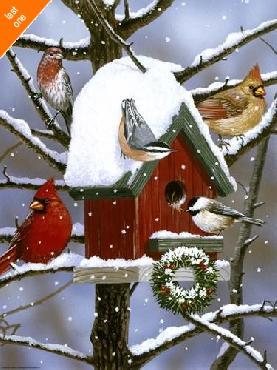 William Vanderdasson Red Birdhouse Canvas LAST ONES IN INVENTORY!!