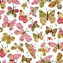 Yachal Design Bright Pink Butterflies
