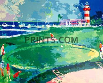 LeRoy Neiman 18th at Harbour Town Open Edition Serigraph on Paper