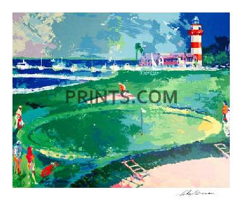 LeRoy Neiman 18th at Harbour Town Hand Signed by LeRoy Neiman Serigraph