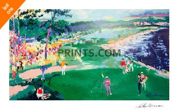 LeRoy Neiman 18th at Pebble Beach Hand Signed by LeRoy Neiman Serigraph Last One!