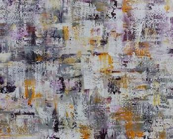 Marcy Chapman Gold Purple Grey Abstract Canvas