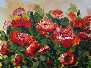 Marcy Chapman Red Poppies Garden Canvas