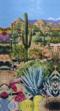 Bob Quick Desert Oasis 2 Canvas