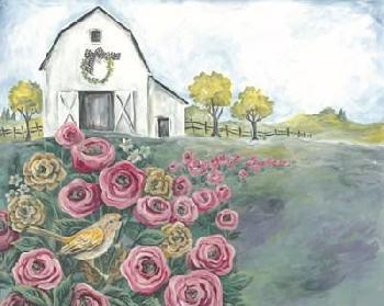 Diane Kater Pink Flower Field