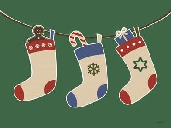 Martina Pavlova Christmas Socks Canvas