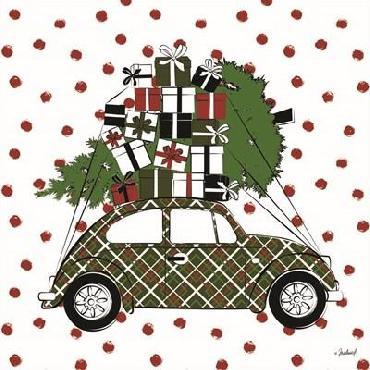 Martina Pavlova Christmas Car Canvas