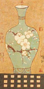 Young-Mi Chi Asian Vase II Canvas