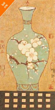 Young-Mi Chi Asian Vase II Canvas LAST ONES IN INVENTORY!!