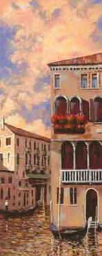 D J Smith Venice Sunset I Canvas