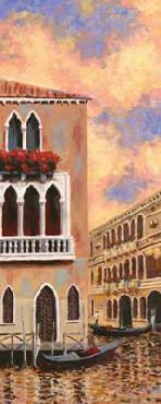 D J Smith Venice Sunset II Canvas