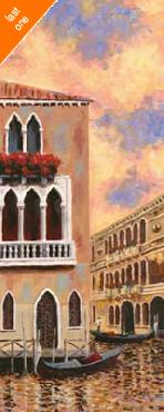 D J Smith Venice Sunset II Canvas LAST ONES IN INVENTORY!!