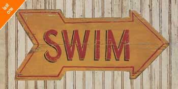 Zaricor Go Swim Canvas LAST ONES IN INVENTORY!!