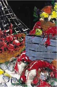 Susan Gillette Ocean Harvest I Canvas