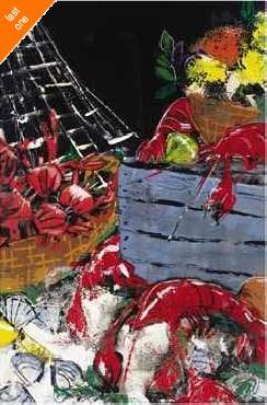 Susan Gillette Ocean Harvest I Canvas LAST ONES IN INVENTORY!!