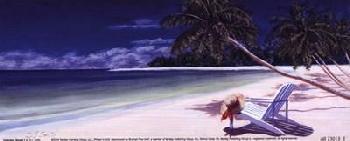 D J Smith Secluded Beach I Canvas