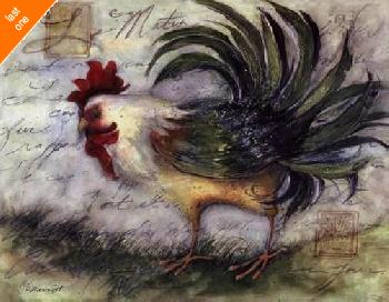 Susan Winget Le Rooster IV   LAST ONES IN INVENTORY!!