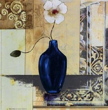 Susan Osborne Blue Vase I