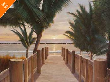 Diane Romanello Palm Promenade NO LONGER IN PRINT - LAST ONE!!