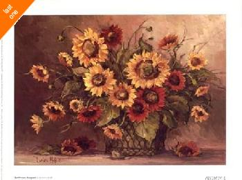 Barbara Mock Sunflower Bouquet   LAST ONES IN INVENTORY!!