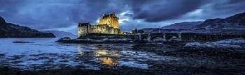 Duncan Fairytale Castle Twilight Panorama 4 Black