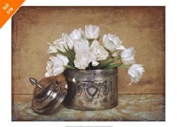 Cristin Atria Vintage Tulips II Canvas LAST ONES IN INVENTORY!!