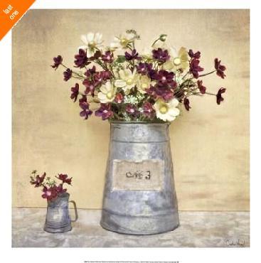 Cristin Atria Plum Daisies Canvas LAST ONES IN INVENTORY!!