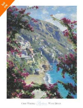 Curt Walters Positano, The Amalfi Coast Canvas LAST ONES IN INVENTORY!!