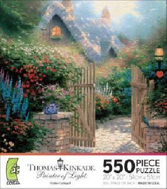 Thomas Kinkade Hidden Cottage II 550 Piece Puzzle
