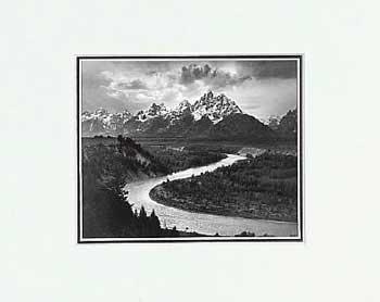 Ansel Adams Tetons And The Snake River SM Matted