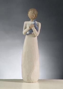 Willow Tree Hero Woman with Folded Flag Figurine