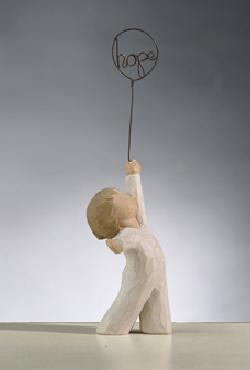 Willow Tree Hope Boy with Balloon Figurine