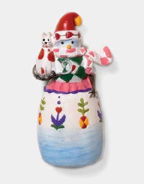 Dept 56 Snowman with Cat Pin Fashion Pin