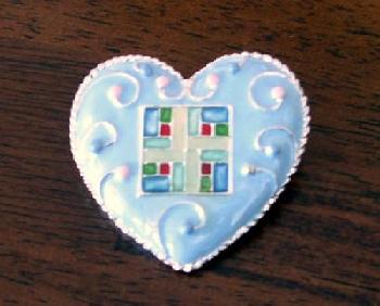 Dept 56 Inspirational Heart Pin - Home Fashion Pin