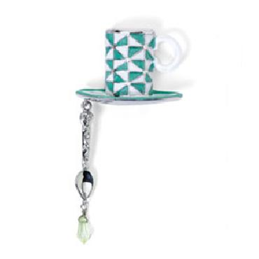 Jim Shore Heartwood Creek Green Coffee Cup Pin