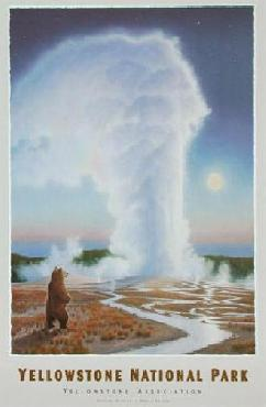 Monte Dolack Bearing Witness -Yellowstone National Park Signed Open Edition