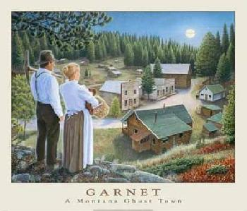 Monte Dolack Garnet Ghost Town Signed Open Edition
