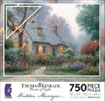 Thomas Kinkade Foxglove Cottage 750 Hidden Messages Piece Puzzle