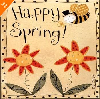 Dan Dipaolo Spring Bumble Bee Canvas LAST ONES IN INVENTORY!!