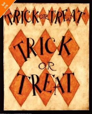 Dan Dipaolo Trick Or Treat Canvas LAST ONES IN INVENTORY!!