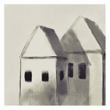 Boho Hue Studio Charcoal Houses