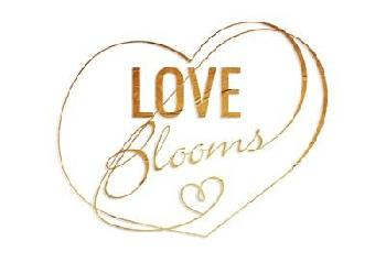 Jace Grey Love Blooms Gold Canvas