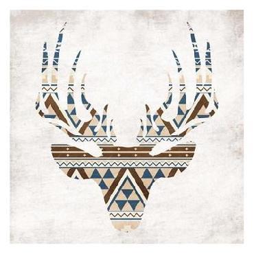 Jace Grey Aztec Deer No Background